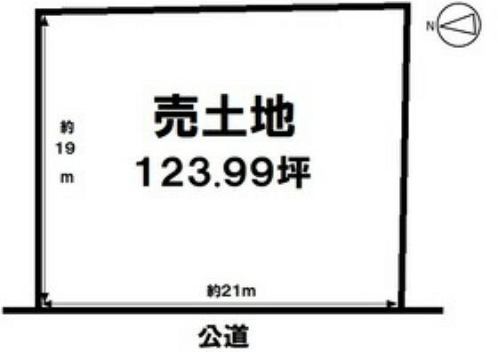 土地図面 店舗用地としておすすめな土地面積123.99坪の売地 まずは資料請求からハウスドゥ半田までお気軽にお問い合わせください