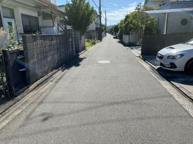 現況写真 接面道路は幅員4.5m