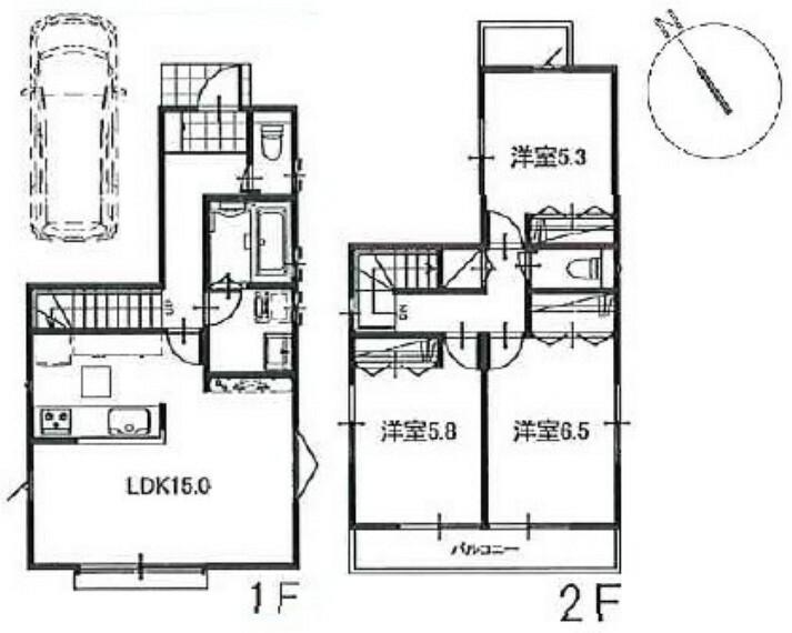 参考プラン間取り図 建物面積81平米。建物本体価格1210万円。建物参考プランは一例です。プランはお客様が自由に決定できます。