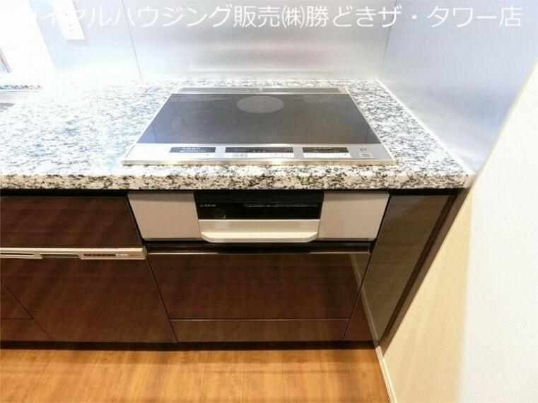キッチン システムキッチンIH3口コンロです。