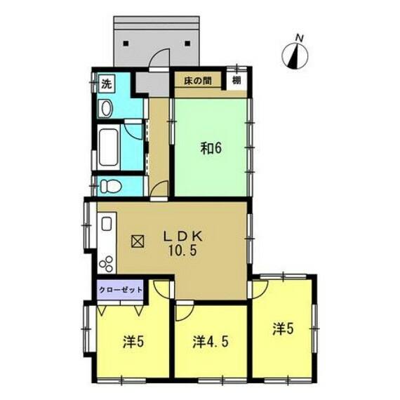 間取り図 【リフォーム後間取り図】4LDKの平家建てのお家です。お風呂廻りは拡張し、ゆったり寛いでいただける間取りを予定しております。