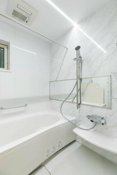 【施工例:お風呂】 Panasonicのシステムオートバス、フラットラインLED照明、浴室乾燥機付