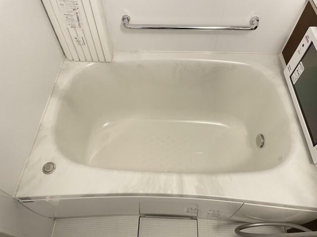浴室 コンパクトな可愛いお風呂 すぐお湯が溜まります