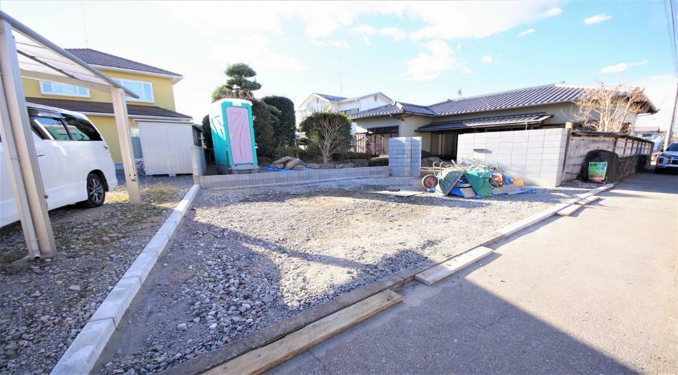 現況写真 駐車場を拡張工事中 3台駐車可能です。