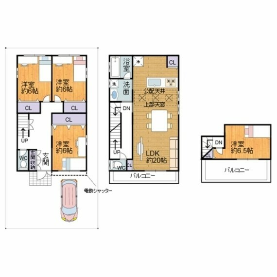 間取り図 全居室洋室の4LDKの物件です。全ての部屋に収納がついています。
