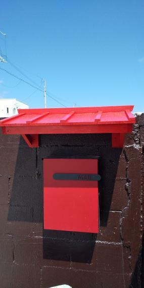 手作り屋根付きポスト