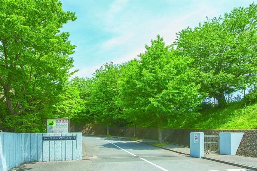 中学校 昭和中学校(約2110m/徒歩27分)「生きる力」の育成と「個性」と「自主性」を伸ばす指導がモットーです。