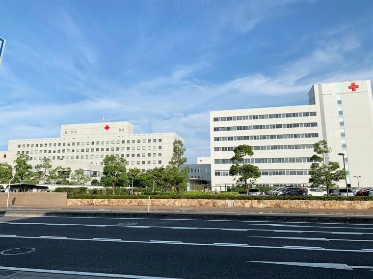 周辺の街並み 総合病院岡山赤十字病院