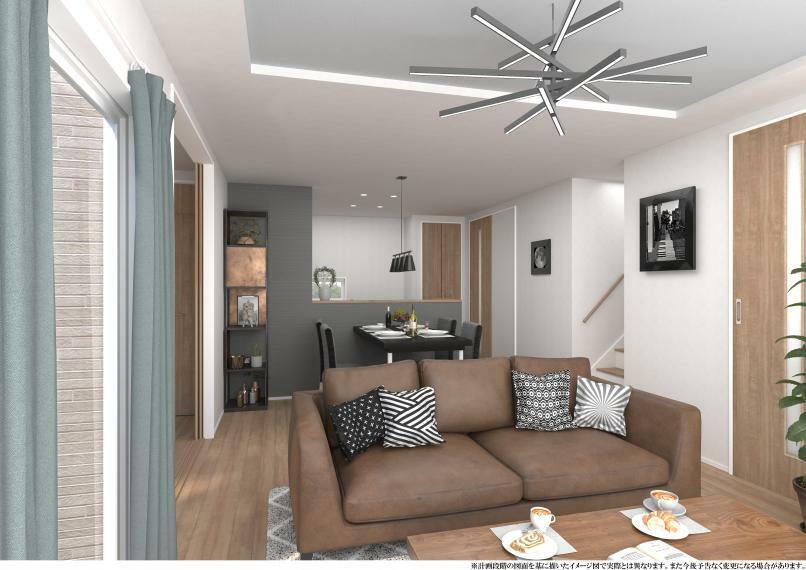 居間・リビング 明るく風通しも良いリビングはテラスと連なる上質な快適空間です。【施工例】