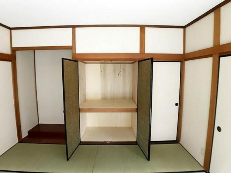 収納 1階約8帖和室収納スペース