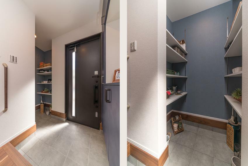 玄関 【20号地】 外からの汚れを持ち込みたくない方におすすめの玄関収納。 ※写真は弊社施工例