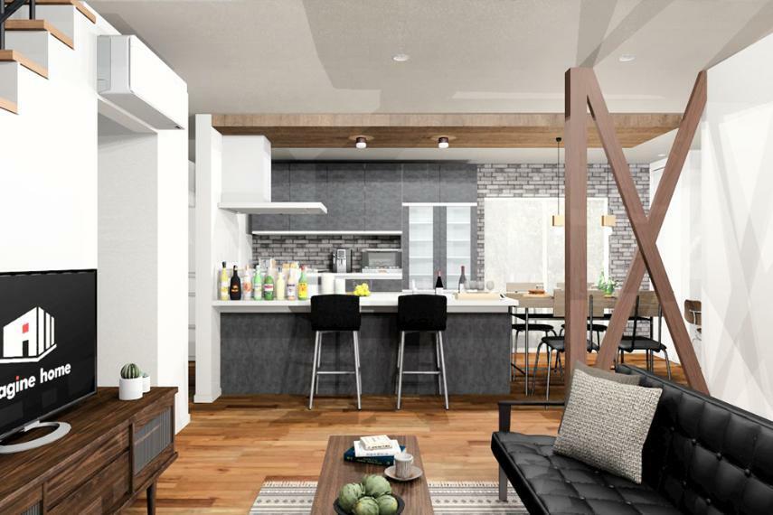 【のぞみが丘・関津 66号地モデルハウス】 大空間LDKで家族が繋がる家。完成しました! ※画像はパース