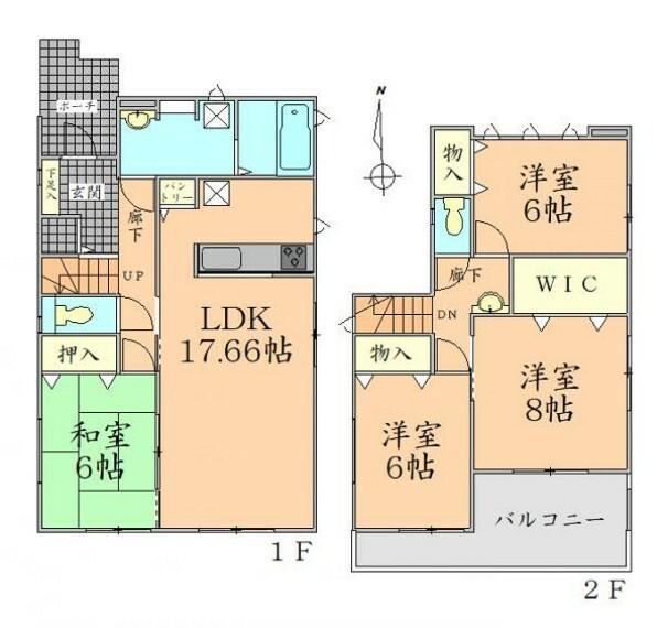 間取り図 間取り図 全居室6帖以上のゆったりとした間取り