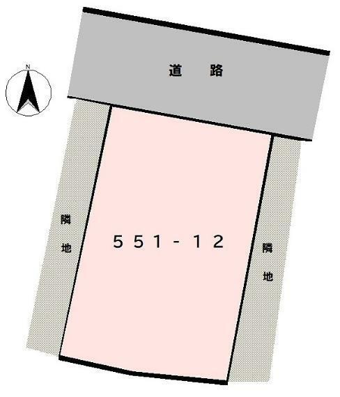 区画図 配置図:北側接道一部計画道路を含む可能性あり