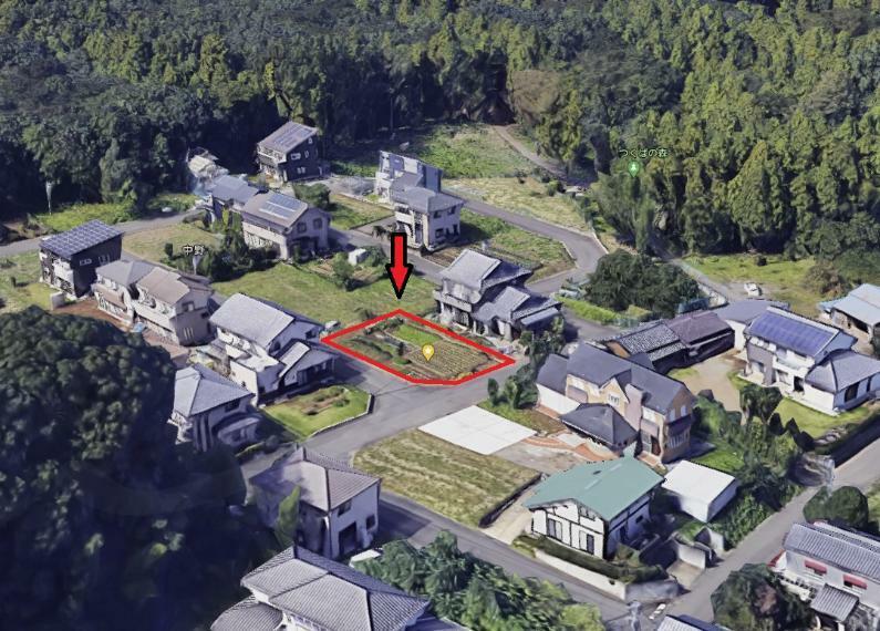 現況写真 googleマップより。静かな住宅分譲地。