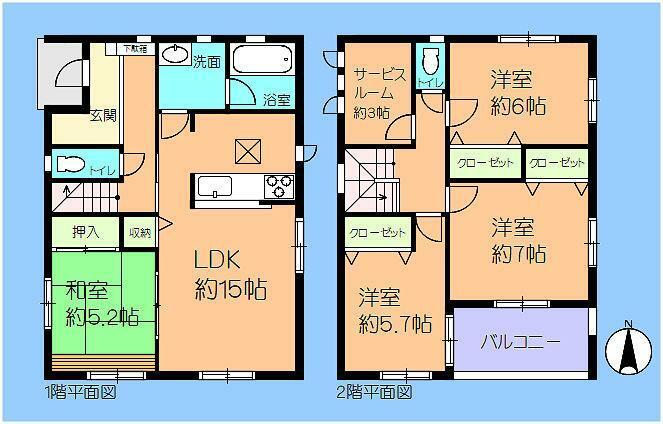 間取り図 4号棟 3LDK+タタミスペース+WIC