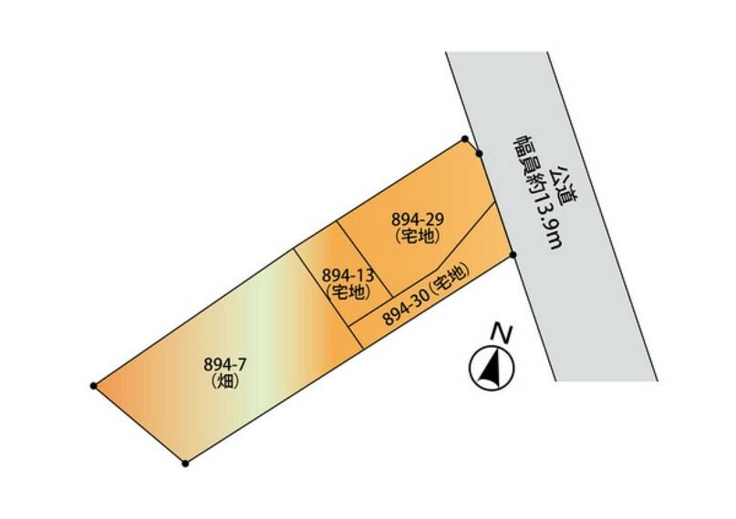 土地図面 敷地面積351坪以上と広さがあります! 建築条件なし!お好きなハウスメーカーで夢のマイホームを建築できます! お問い合せはセンチュリー21クレドまで!