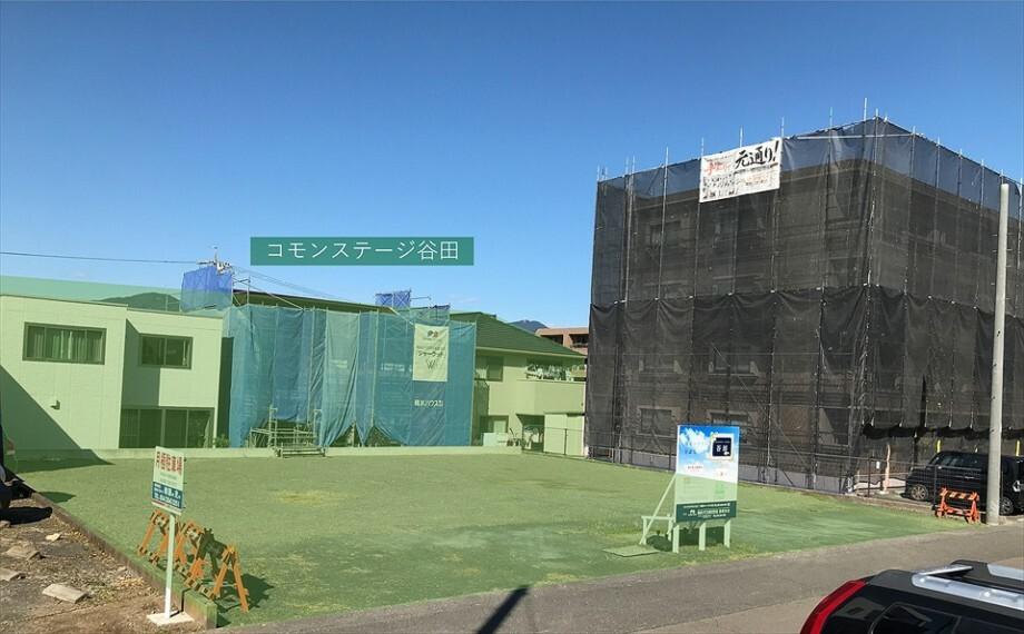 現況写真 コモンステージ谷田は全5区画の分譲地です。北側3区画はすでに分譲済みです。令和2年11月撮影