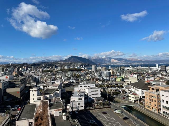 眺望 西面バルコニーからの眺望!高崎山一望出来ます!