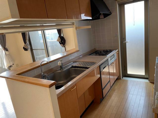 キッチン 奥様に嬉しい西側バルコニーへの勝手口!ビルトイン食洗機付!