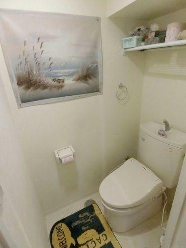 トイレ タオル掛け、シンプルなトイレこそ使いやすいスタイルです