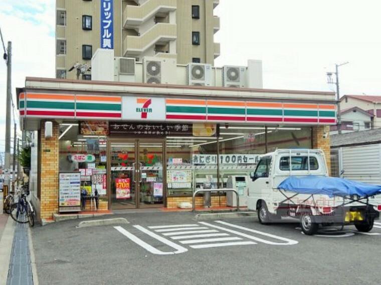 コンビニ 【コンビニエンスストア】セブンイレブン 大阪放出西3丁目店まで160m