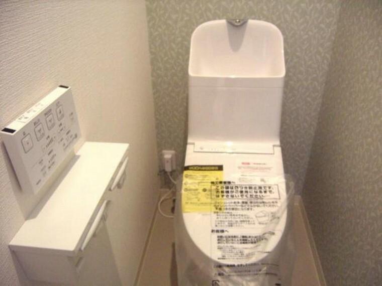 トイレ 家族だけでなく来客にも対応する1階部分トイレ。