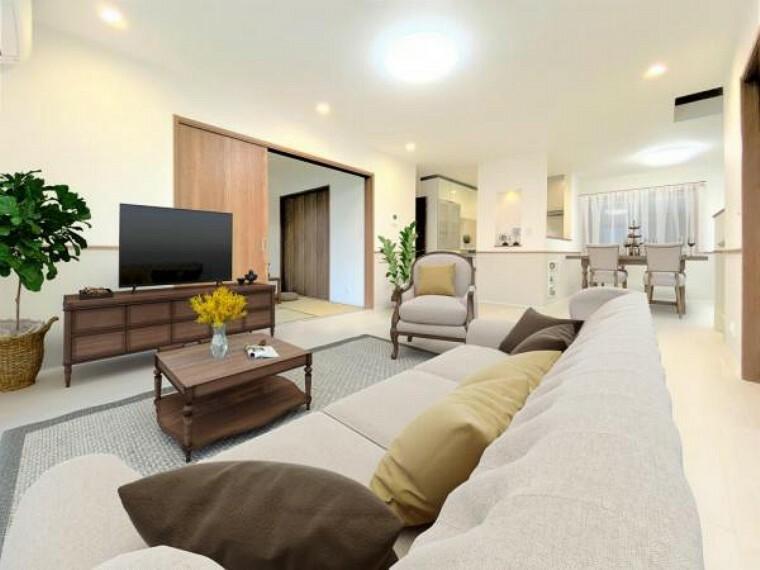 居間・リビング ※バーチャルホームステージング 販売に家具は含みません