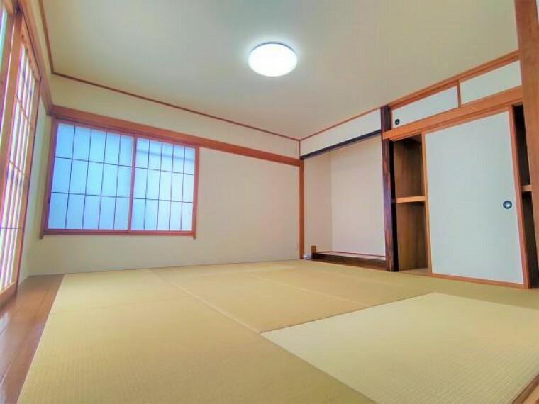 【リフォーム済】1階和室です。障子・襖を張替、畳を交換しました。