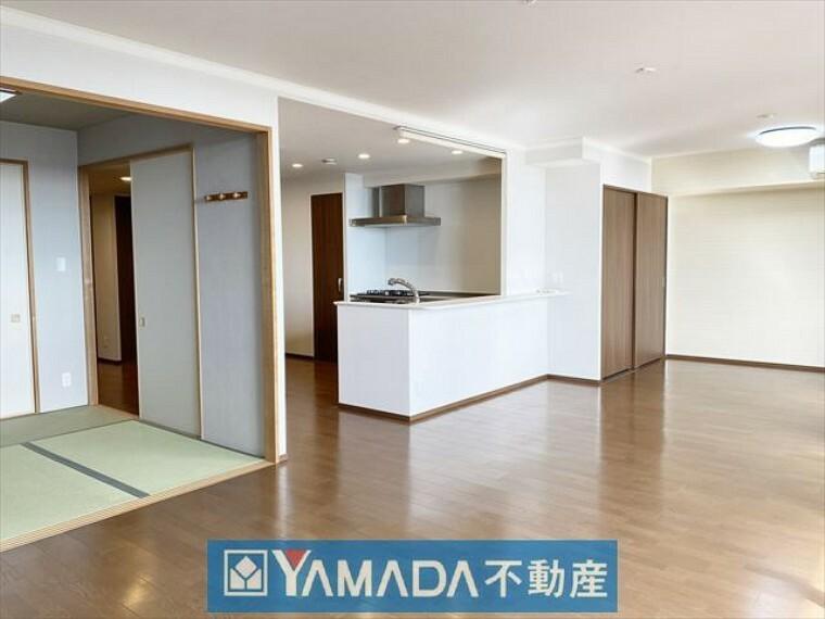 居間・リビング LDK25.4帖 床暖房完備