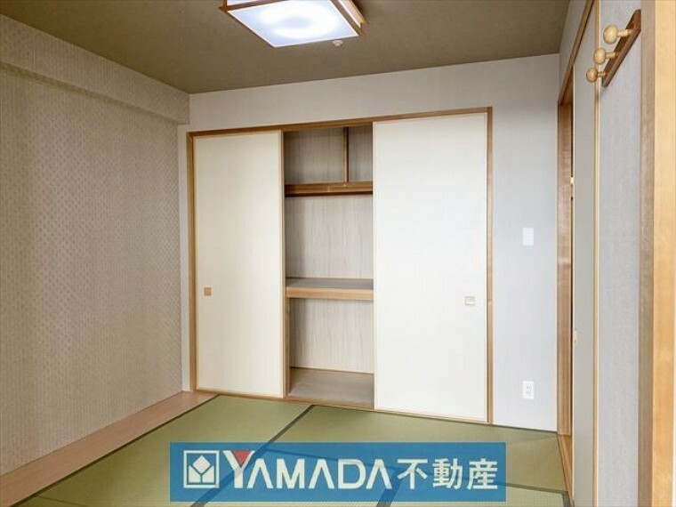 寝室 リビング横の和室4.8帖 ご家族団らんのスペースとしても便利です。