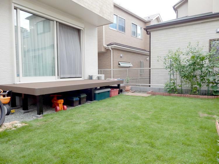 庭 広い庭では家庭菜園やガーデニングも楽しめ生活にゆとりと潤いをプラスします。