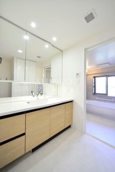 洗面化粧台 パウダールーム ※同タイプ参考写真/一部仕様内装カラーは実際と異なります