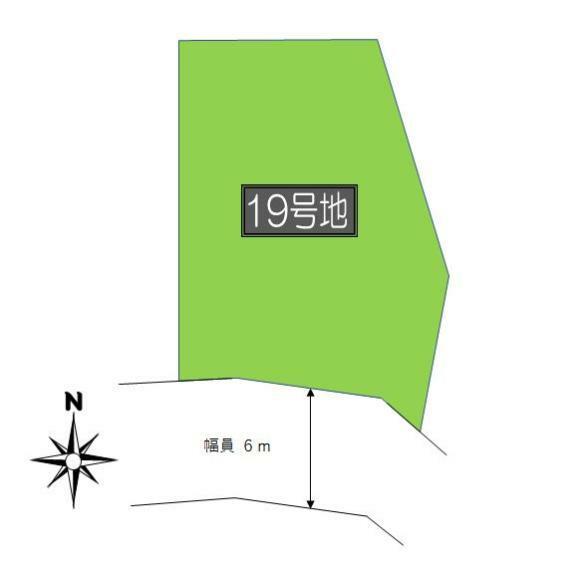 土地図面 区割図:デルソーレ軽井沢町 19号地 1,480万円