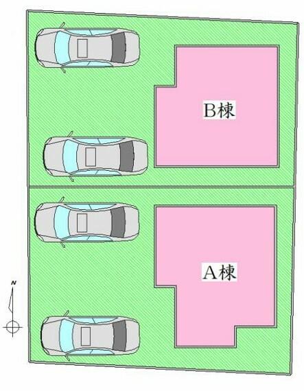 区画図 配置図 駐車2台可能です