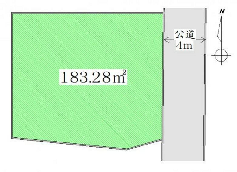 区画図 区画図 土地広々約55坪。