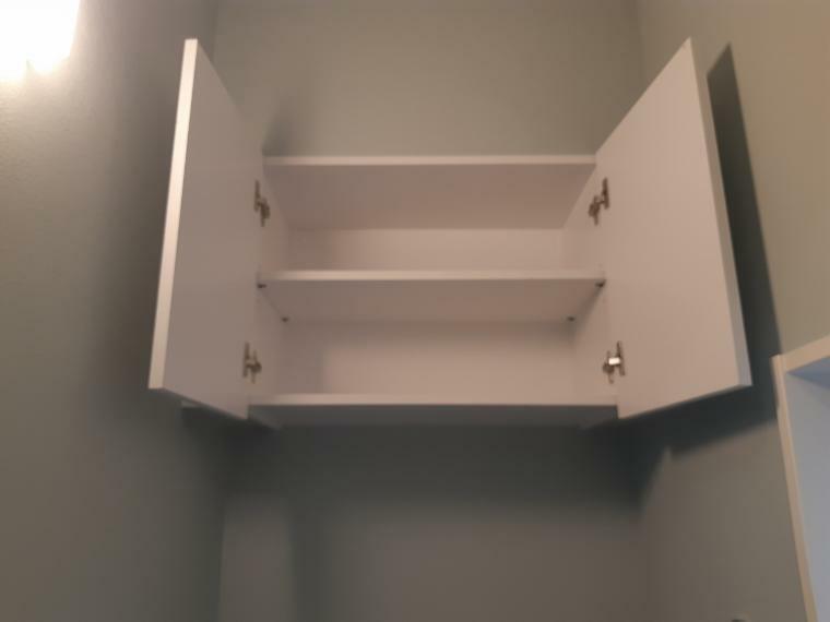 トイレ トイレは上部に収納も付いていてキレイに片付くので掃除もしやすいです