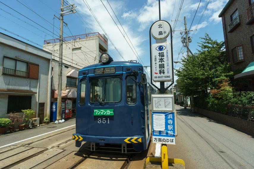 周辺の街並み 阪堺電気軌道上町線 北畠駅