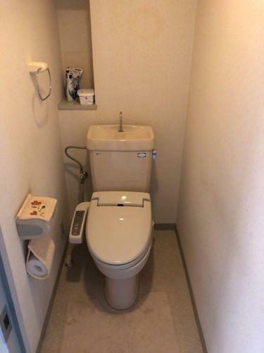 トイレ 収納棚が付いています