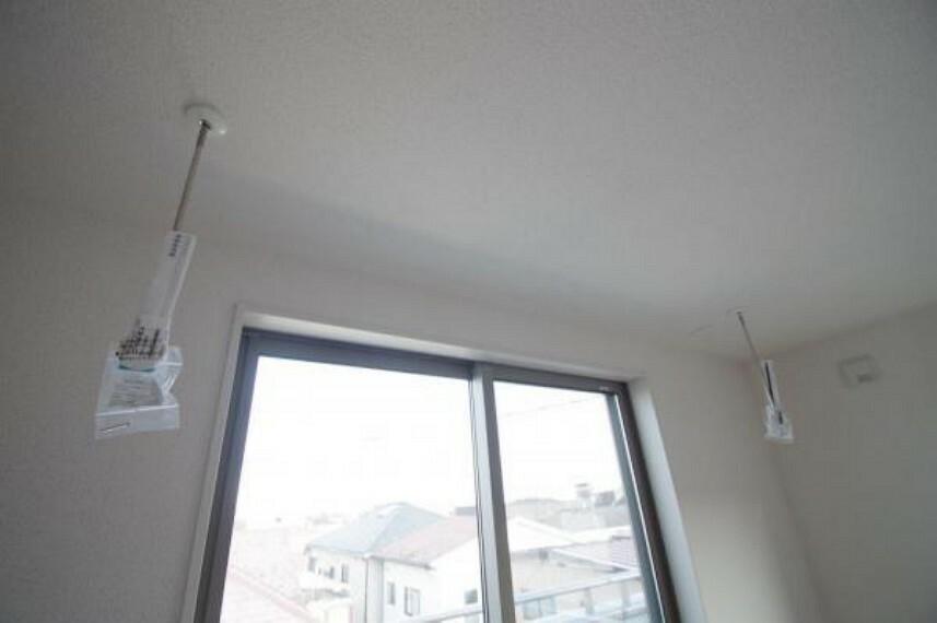 《室内物干し》居室には取り外し可能な、室内物干し付です!