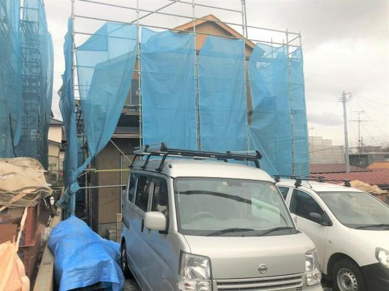 現況外観写真 全棟オール電化・制震装置採用で安心の我が家を。