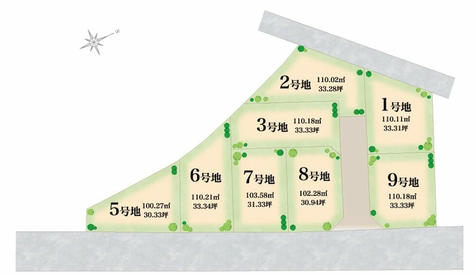 区画図 歴史ある街「奈良きたまち」エリアに誕生する分譲地。