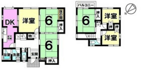 間取り図 家族それぞれが個室を持てるゆとりの6DK中古戸建 気になることがございましたらお気軽にご相談ください