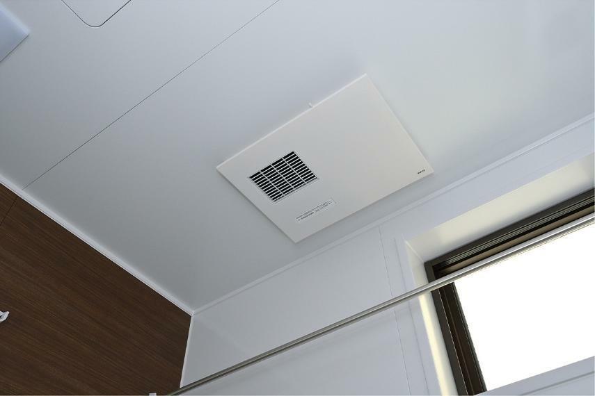 冷暖房・空調設備 浴室暖房乾燥機  換気・乾燥・暖房・涼風などの機能を備えた浴室換気乾燥機。雨天時の洗濯物乾燥にも役立ちます。 ※掲載の写真はモデルハウスを撮影(2020年11月)したもので、インテリア・小物・オプション品などは販売価格に含まれておりません。※参考写真は弊社施工例及びメーカー写真のため実際とは異なる場合があります。