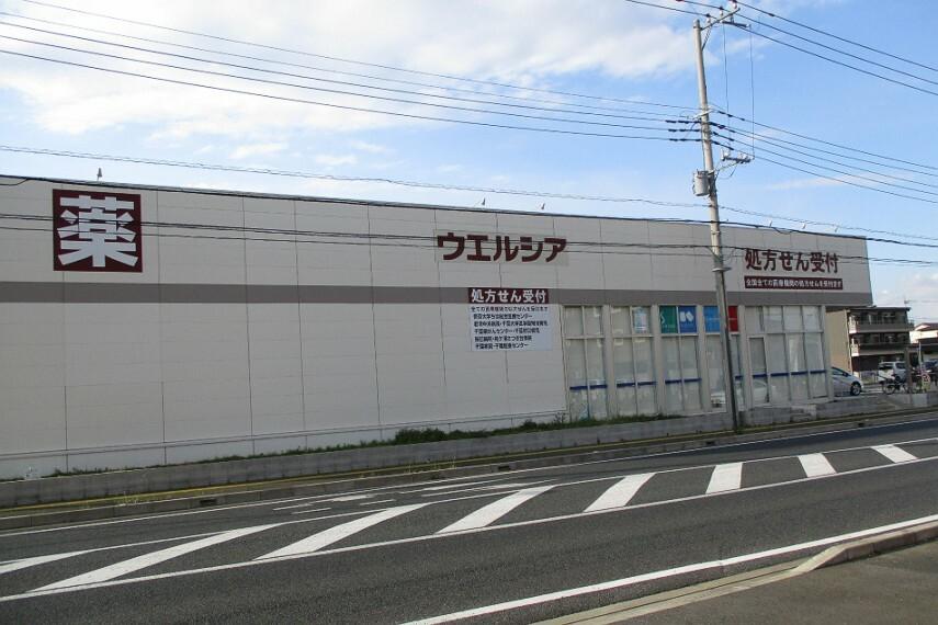 ドラッグストア ウェルシア袖ケ浦奈良輪店(5分)