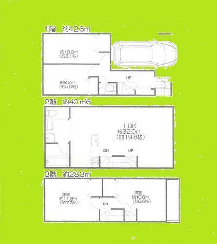 間取り図 間取図113平米4LDK+P 居室に関して、建築基準法上では一部「納戸」扱いとなる可能性がございます。