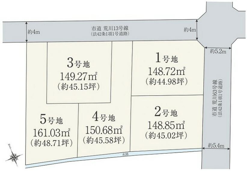 区画図 利便性に富んだ姫路土山で理想の住まいの実現を!