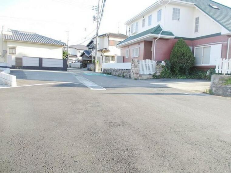 現況写真 現地工事中 前面道路写真