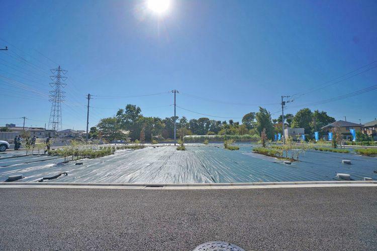 現況写真 世田谷区北烏山7丁目の土地分譲。全25区画の大型分譲現場です。