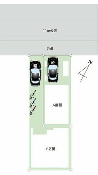 区画図 3駅4路線利用可能でアクセス便利。